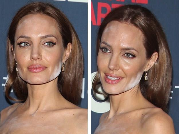 Angelina Jolie suffers a white powder disaster