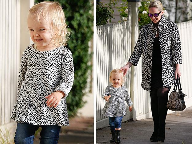 Talk about coordinating fashion! Fifi and Trixi look very glam in matching monochrome animal print.
