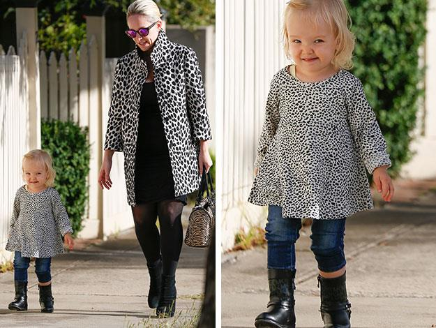 The pair stepped out together for a mummy-daughter day out in Melbourne together.