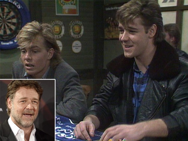 Russell Crowe was on the hit show for four-episodes in 1987. The critically-acclaimed actor played ex-con Kenny Larkin, but we can safely say his mullet is what we truly treasured from his role.