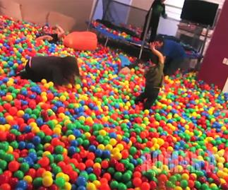 dad house giant ball pit
