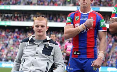 Alex McKinnon heads back to work for Newcastle Knights