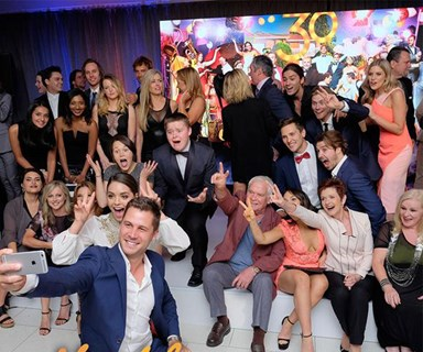Neighbours stars reunite at 30th birthday party