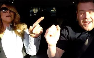 Mariah Carey plays carpool karaoke
