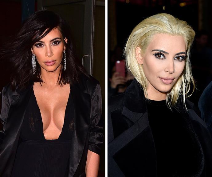 kim kardashian platinum blonde hair