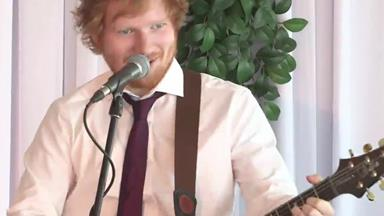 Ed Sheeran gate crashes a Sydney couple's wedding
