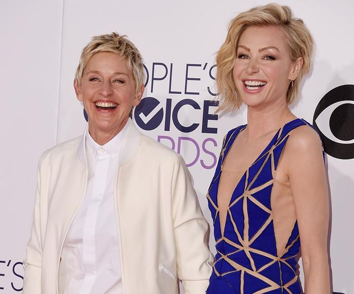 Ellen DeGeneres Portia de Rossi work out