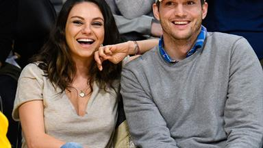 Mila Kunis and Ashton Kutcher's baby daughter Wyatt seen for the first time