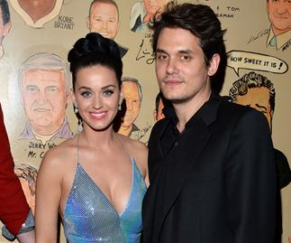 Katy Perry and John Mayer after Super Bowl performance