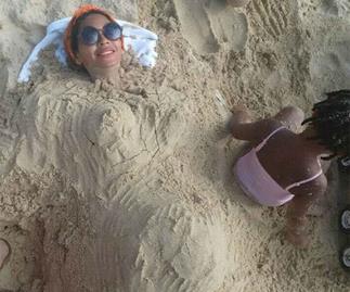 beyonce sand baby