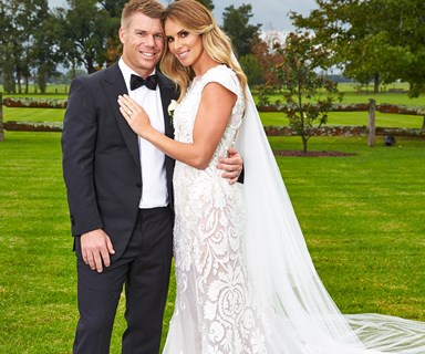 David Warner and Candice Falzon share their beautiful wedding day