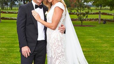 David Warner and Candice Falzon share their beautiful wedding day