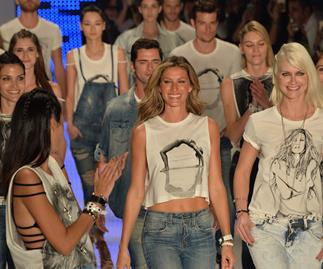 A model goodbye for supermodel Gisele Bundchen as she walks her last catwalk