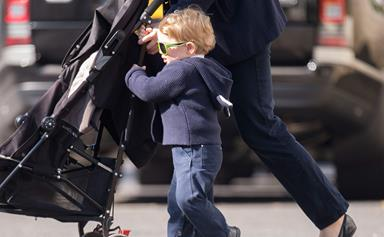 WORLD EXCLUSIVE! Prince George reports for big brother duty!