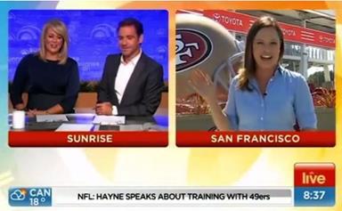 Oops! Nude Footballer accidentally gate-crashes Sunrise!