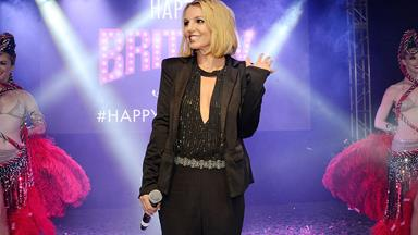 Oops she did it again! Britney Spears takes a tumble on stage during Vegas performance
