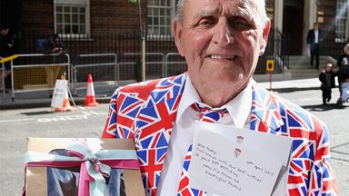 Let them eat cake! Royal super-fan totally chuffed after Wills and Kate send him birthday gift