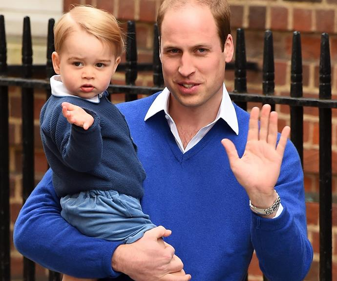 He has already mastered the royal wave.