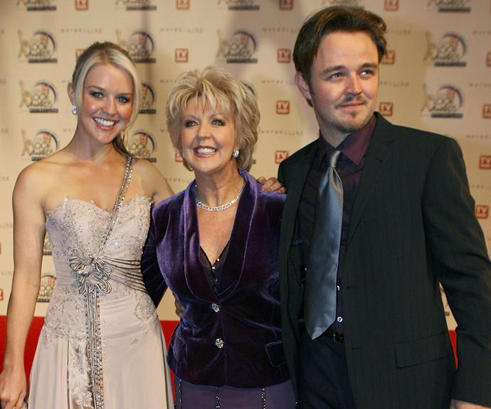 Matt with with mum, Patti and sister Lauren in happier times.