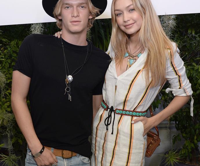 Gigi Hadid and Cody Simpson at a Coachella party