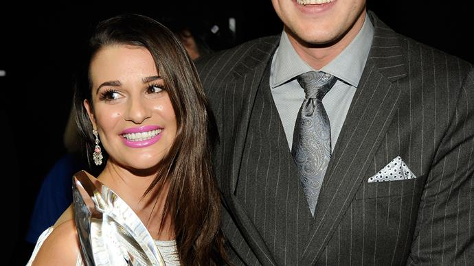 Lea Michele and Cory Monteith met on the set of hit show Glee