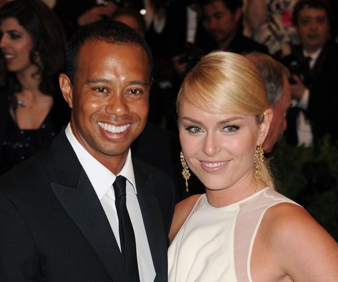 Golfer Tiger Woods and Olympic Skier Lindsay Vonn