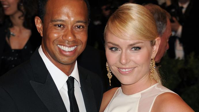 Golfer Tiger Woods and Olympic Skier Lindsay Vonn