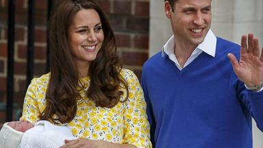 Prince William first official outing since the birth of his baby Princess