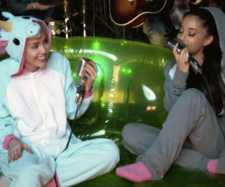 Watch Miley Cyrus and Ariana Grande revamp Crowed House anthem Don't Dream It's Over