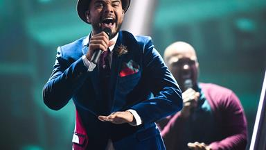 He's the voice! Guy Sebastian delights pub-goers as he belts out Aussie classic ahead of Eurovision