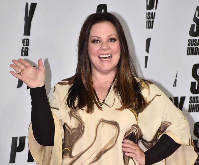 Melissa McCarthy at the premiere of Spy