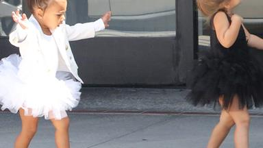 North West and Penelope Disick take on ballet