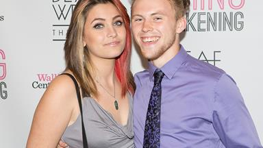 Loved up: Paris Jackson debuts boyfriend Chester Castellaw on the red carpet