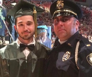 Police officer's heart-warming act of support after teen is orphaned a week before graduating