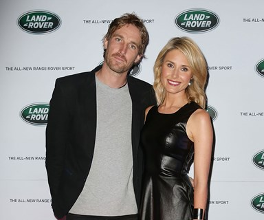 Weather presenter Magdalena Roze and her TV chef fiancé Darren Robertson are expecting their first child!