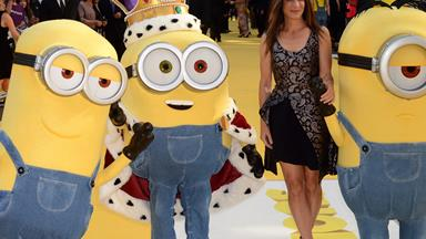 Sandra Bullock looks devilishly good at the Minions premiere