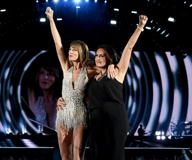 A meeting of epic proportions! Taylor Swift's cat, Olivia Benson, meets her namesake, Law and Order actress Mariska Hargitay
