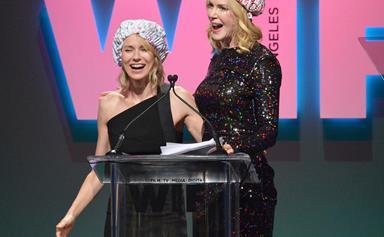 Pucker up, pal! BFFs Nicole Kidman and Naomi Watts pash on stage!