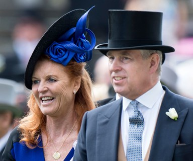 Sarah Ferguson still remembers how to curtsey as she passes the Queen at Royal Ascot