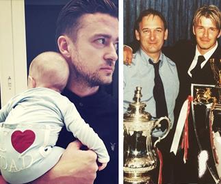 Justin Timberlake and Silias Randell and David Beckham