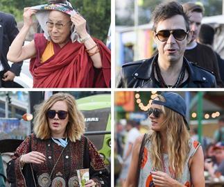 Adele, Cressida Bonas, Dalai Lama and Jamie Hince at Glastonbury