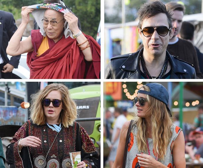 Adele, Cressida Bonas, Dalai Lama and Jamie Hince at Glastonbury