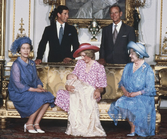 Queen Elizabeth, Princess Diana, Queen Mother, Prince Philip, Prince Charles, Prince William