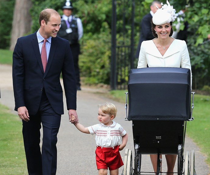 "The Cambridge clan at [Princess Charlotte's christening](https://www.nowtolove.com.au/tags/christening-of-princess-charlotte|target=""_blank"") in 2015."