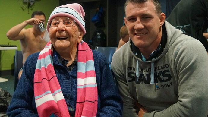Thelma Spencer and Paul Gallen