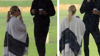 Asher Keddie and her husband have a sneaky smoke together