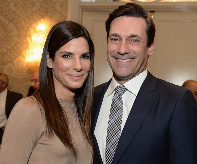 Sandra Bullock and Jon Hamm