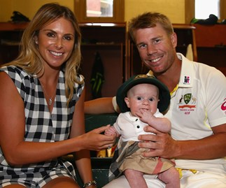 David Warner, Candice Warner and Ivy Mae Warner