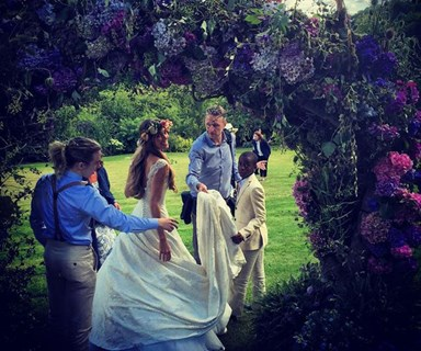 David Beckham and Brad Pitt are among the celebs at Guy Ritchie's star-studded wedding