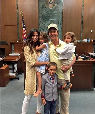 Matthew McConaughey, Camila Alves and their children